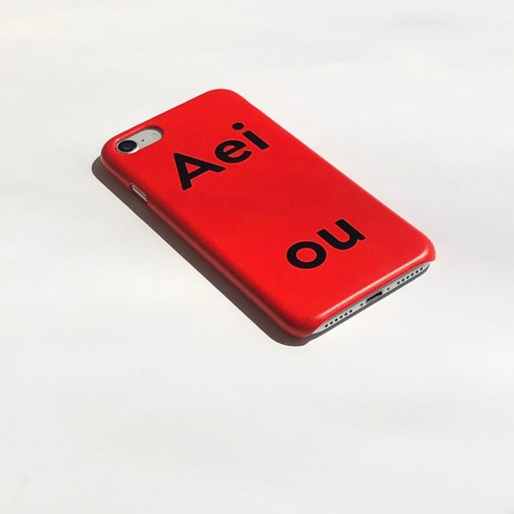 A.P.c / Aeiou Phone case Tomato Red