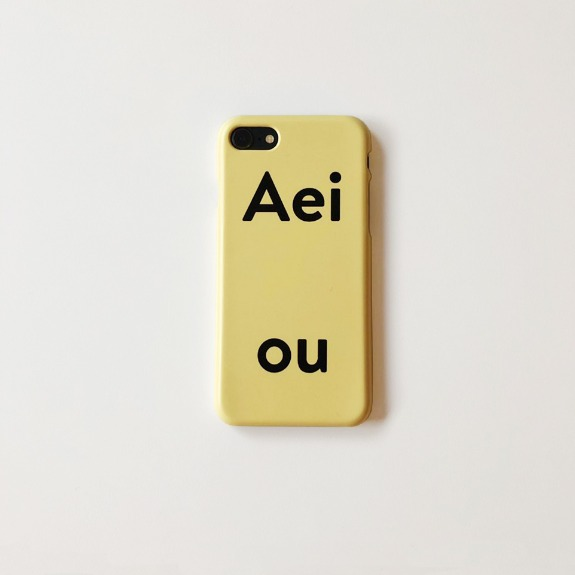 Aeiou Phone case RR Door Yellow