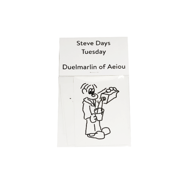 Steve Days Sticker / Tuesday  5 set