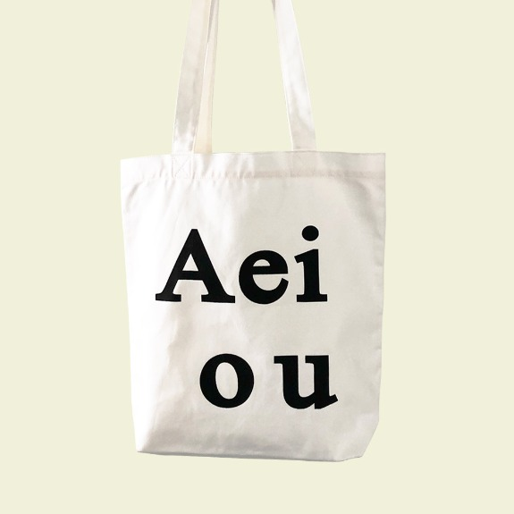 Aeiou Logo Bag (Cotton 100%)White