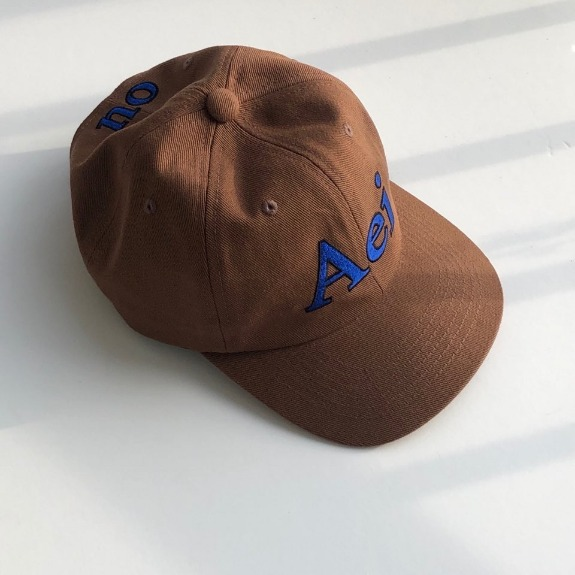 Out of stock / Aeiou Logo Cap (F size)Choco brown