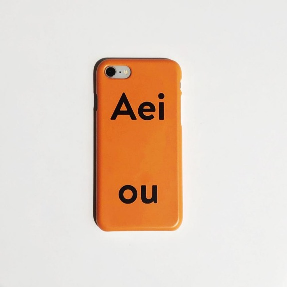 Last Stock / Aeiou Phone case Tangerine