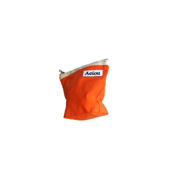 Out of stock / A.B.P / Aeiou Basic Pouch (M size)Tangerine