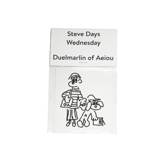 Steve Days Sticker / Wednesday  5 set