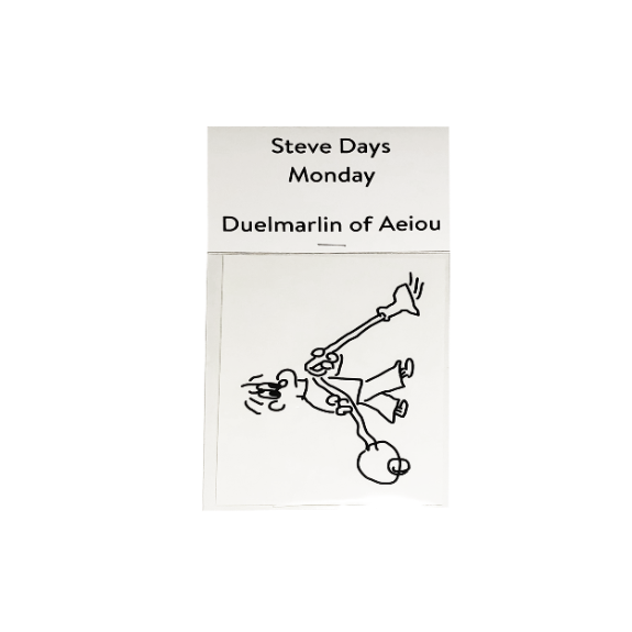Steve Days Sticker / Monday  5 set