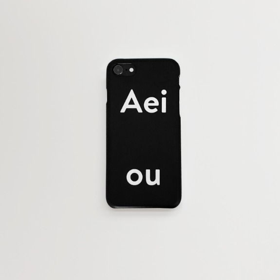 Aeiou Phone case Cool Black