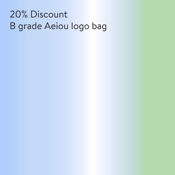 B grade Aeiou Logo Bag 4 colors20% discount