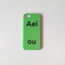 Aeiou Phone case Vegetable Green