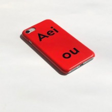 Aeiou Phone case Tomato Red
