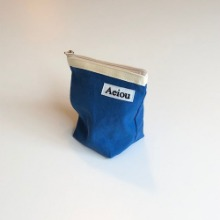 Out of stock / A.B.P / Aeiou Basic Pouch (M size)Blue Lake