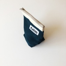 Restock in March / Aeiou Basic Pouch (M size)Dark Blue indigo
