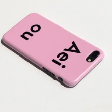 Aeiou Phone case Strawberry milk Pink