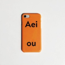 Out of Stock / Aeiou Phone case Tangerine