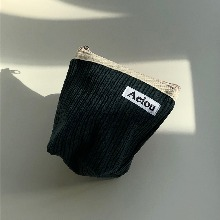 Aeiou Basic Pouch (M size)Winter Forest Corduroy