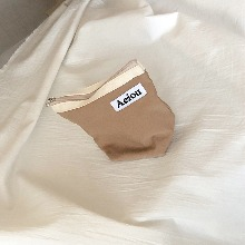 Out of stock / Aeiou Basic Pouch (M size)Milktea Brown