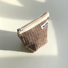 Out of stock / Aeiou Basic Pouch (M size) Ash Brown Corduroy