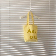 Aeiou Logo Bag (Cotton 100%)Banana milk