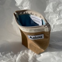 Aeiou Basic Pouch (M size)Wooden sailboat
