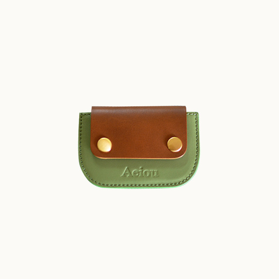 Joy, card holder asparagus green