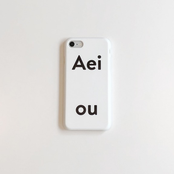Aeiou Phone case Cloud White