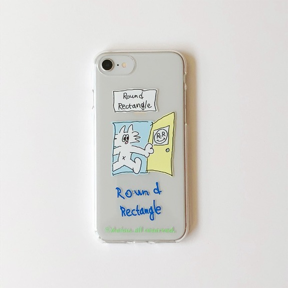 Aeiou Phone case Round Rectangle x Dogcat Peter
