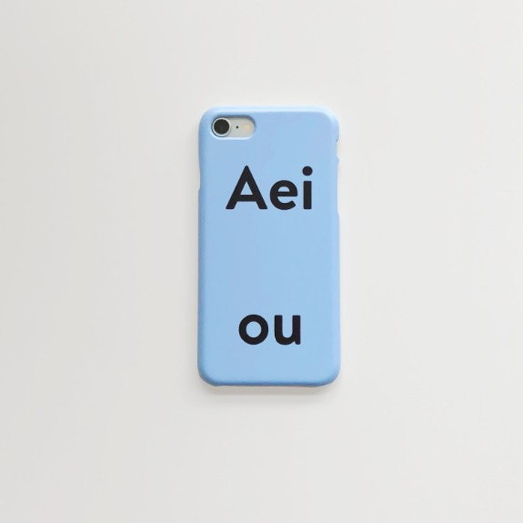 Aeiou Phone case Sky blue
