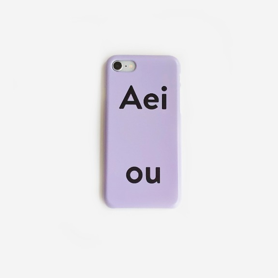 Aeiou Phone case Soft Purple
