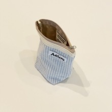 Aeiou Basic Pouch (M size) Good Morning Stripe