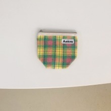 Aeiou Basic Pouch (M size)Fruit Cocktail Check